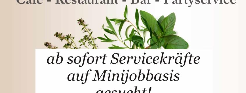 onlineAnzeige 80x100 Servicekraft Minijob gesucht Jan 19