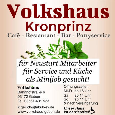 onlineAnzeige 80x100 Service und Küche kraft Minijob gesucht ab Juni 21