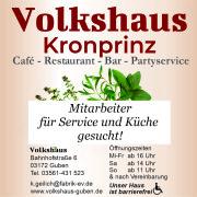 onlineAnzeige 80x100 Service und Küche kraft Minijob gesucht ab November 21