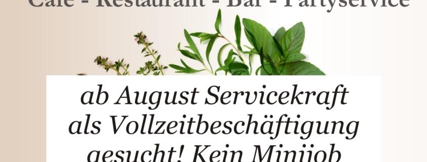 onlineAnzeige Servicekraft Vollzeit gesucht August 19